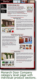 Link to Monarch Door Company - Residential Garage Doors